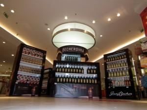 Reklamní stánek Becherovka