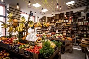 Interiér prodejny Farmářský trh